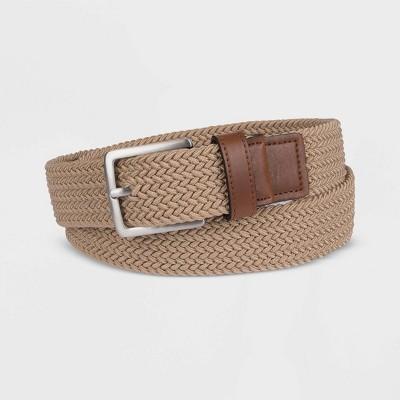 Men's 25mm Design Stretch Web Belt - Goodfellow & Co™ Khaki