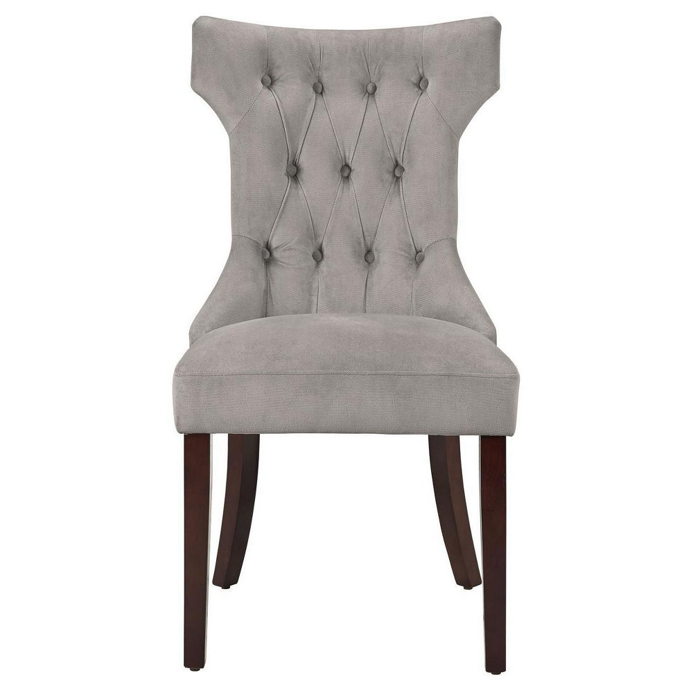 Tufted Hourglass Dining Chair - Taupe (Brown) - (Set of 2) Dorel Living