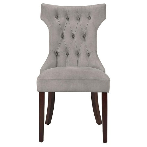 Tufted Hourgl Dining Chair Taupe Set Of 2 Dorel Living Target