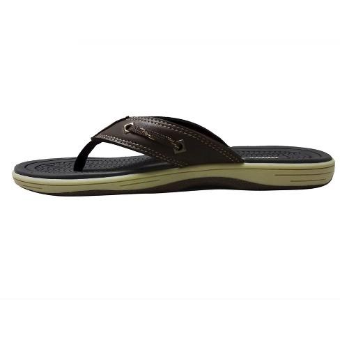 8b7e7e40c Men s Jayce Flip Flop Sandals - Merona™ Brown XL   Target