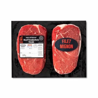 USDA Choice Angus Beef Tenderloin Steak - 0.64-1.2 lbs - price per lb - Good & Gather™
