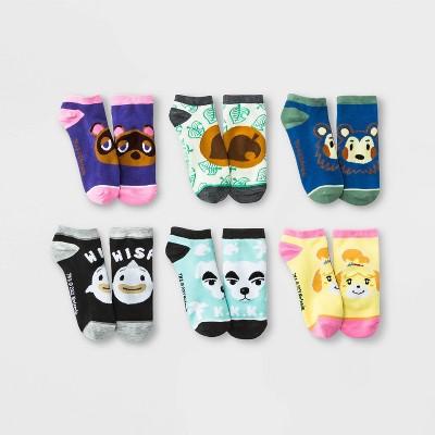 Women's Animal Crossing 6pk Low Cut Socks - Assorted Colors 4-10