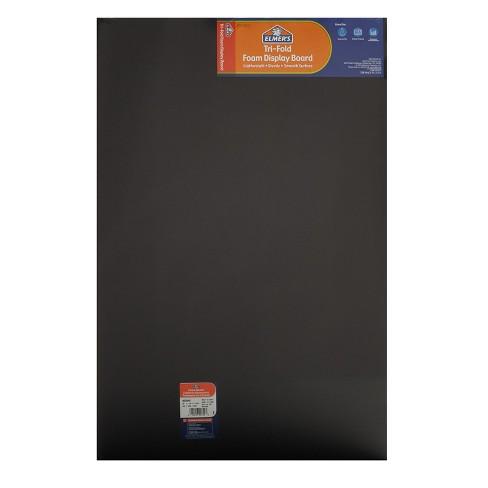 elmer s tri fold foam presentation board 36 x48 black target