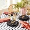 "8"" 4pk Stoneware Pointed Sun Salad Plates Black - Opalhouse™ designed with Jungalow™ - image 2 of 4"