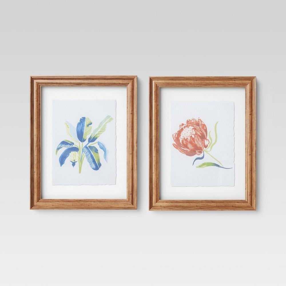 2pk Tropical Framed Wall Poster Print - Project 62