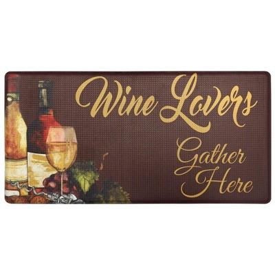 "Nicole Miller 20"" x 39"" New York Wine Lovers Kitchen Mat"