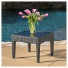 Antibes Square Wicker Patio Accent Table - Christopher Knight Home - image 2 of 4