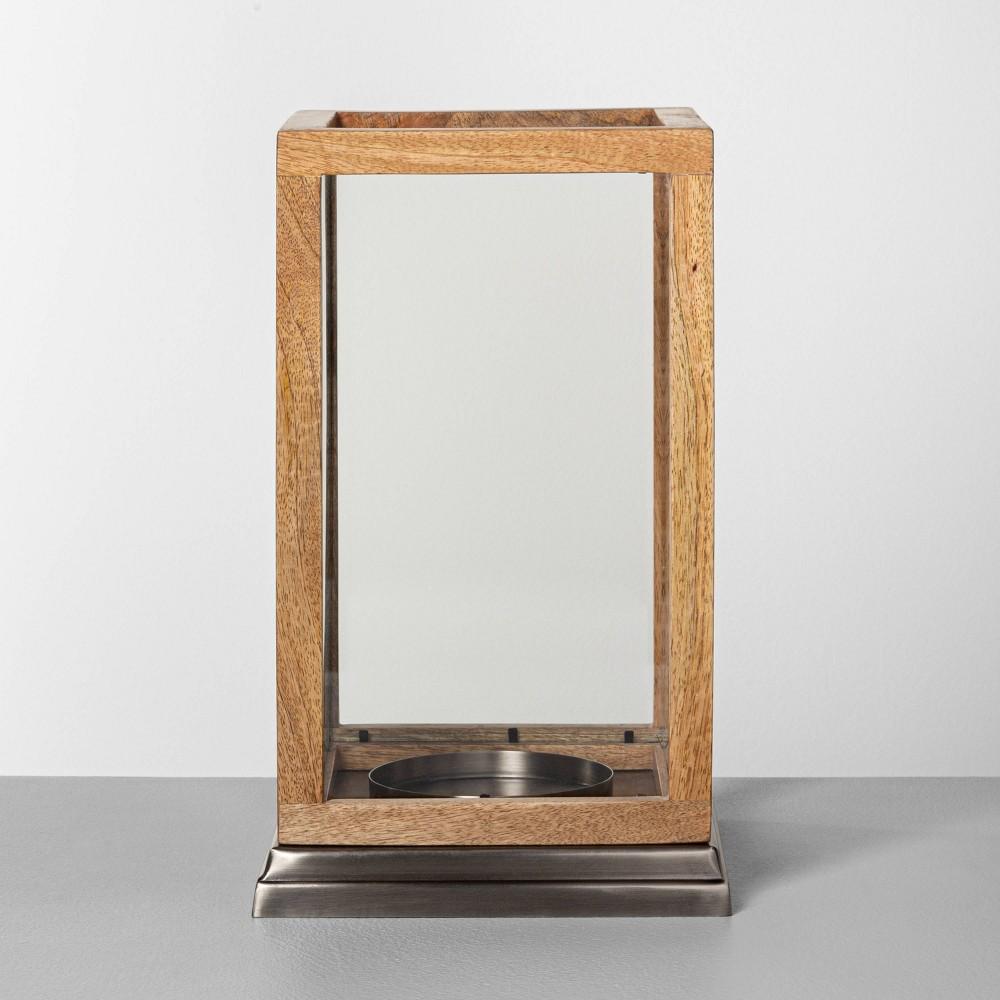Wood 38 Glass Lantern Hearth 38 Hand 8482 with Magnolia