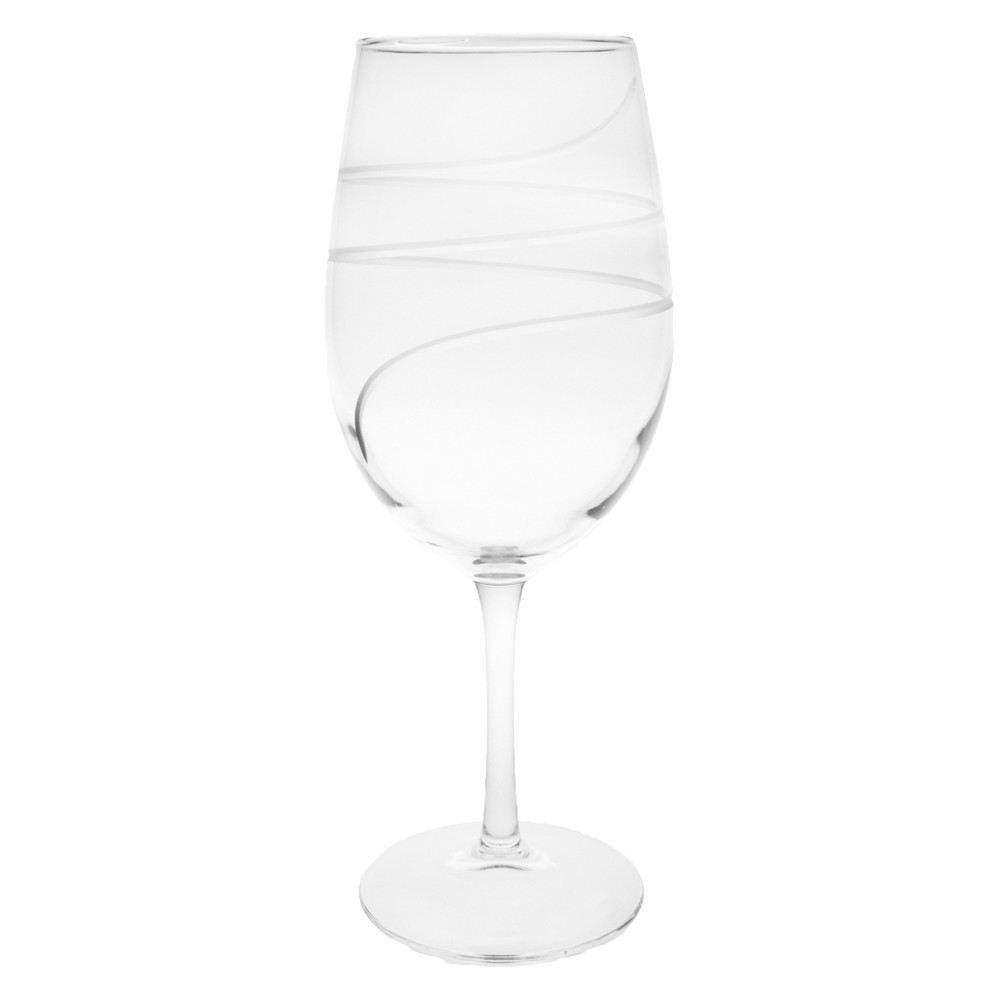 Image of 18oz 4pk Twist All-Purpose Wine Glasses - Rolf Glass, Clear