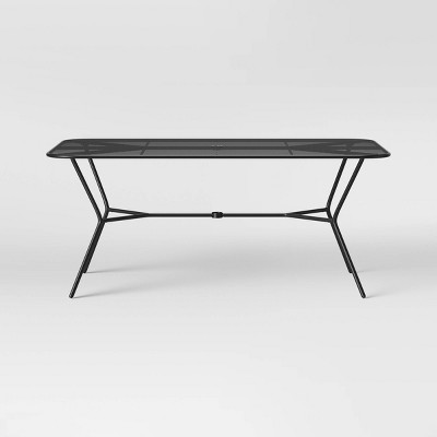 Bangor 6 Person Rectangle Patio Dining Table - Black - Project 62™