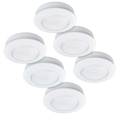 Ecolight 6pk 3  LED Tap Puck Light with Command® Strips By 3M