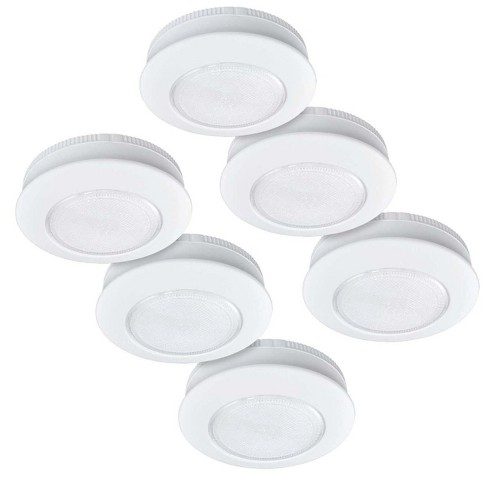 "Ecolight 6pk 3"" LED Tap Puck Light with Command® Strips By 3M - image 1 of 3"