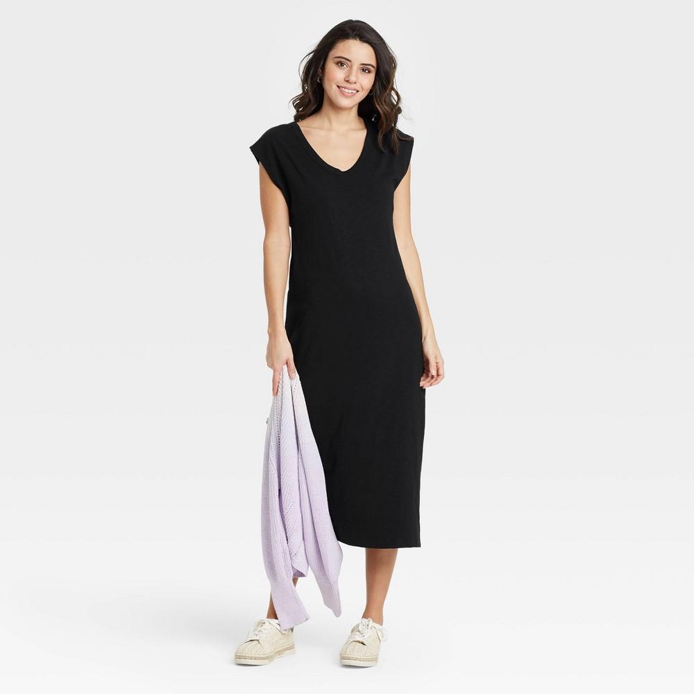 Women 39 S Sleeveless Knit Dress Universal Thread 8482 Black Xxl