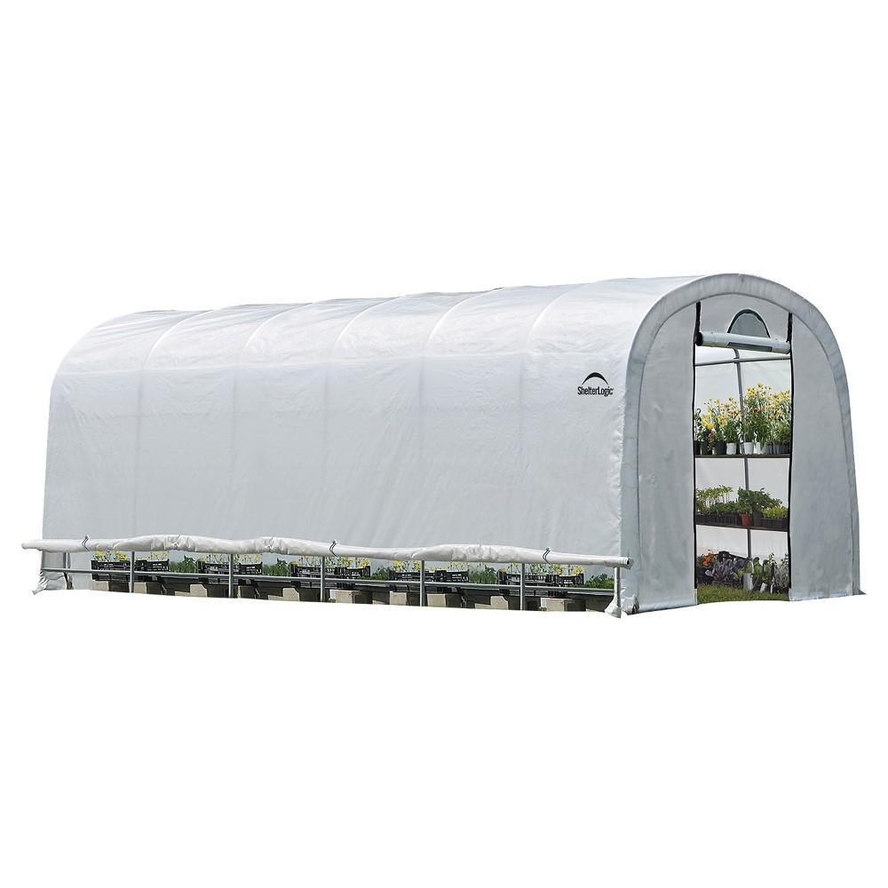 12' X 24' X 8' Growit Heavy Duty Walk - Thru Greenhouse Round Style - Translucent - Shelterlogic, Clear