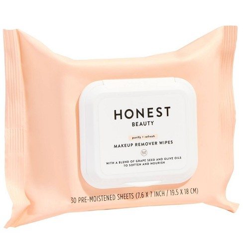 Honest Beauty Makeup Remover Wipes - 30ct - image 1 of 4