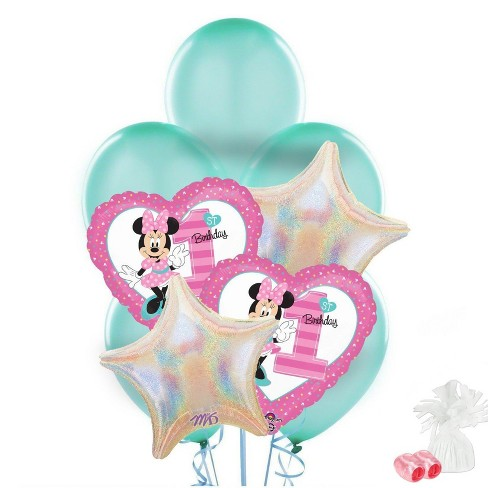 Minnie Mouse 1st Birthday Balloon Bouquet Target