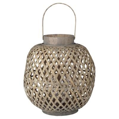 Coconio Wood Lattice Lantern - Oval - A&B Home