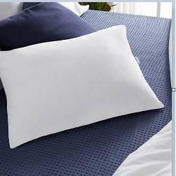 2 in 1 Reversible Gel Foam and Fiber Pillow - White