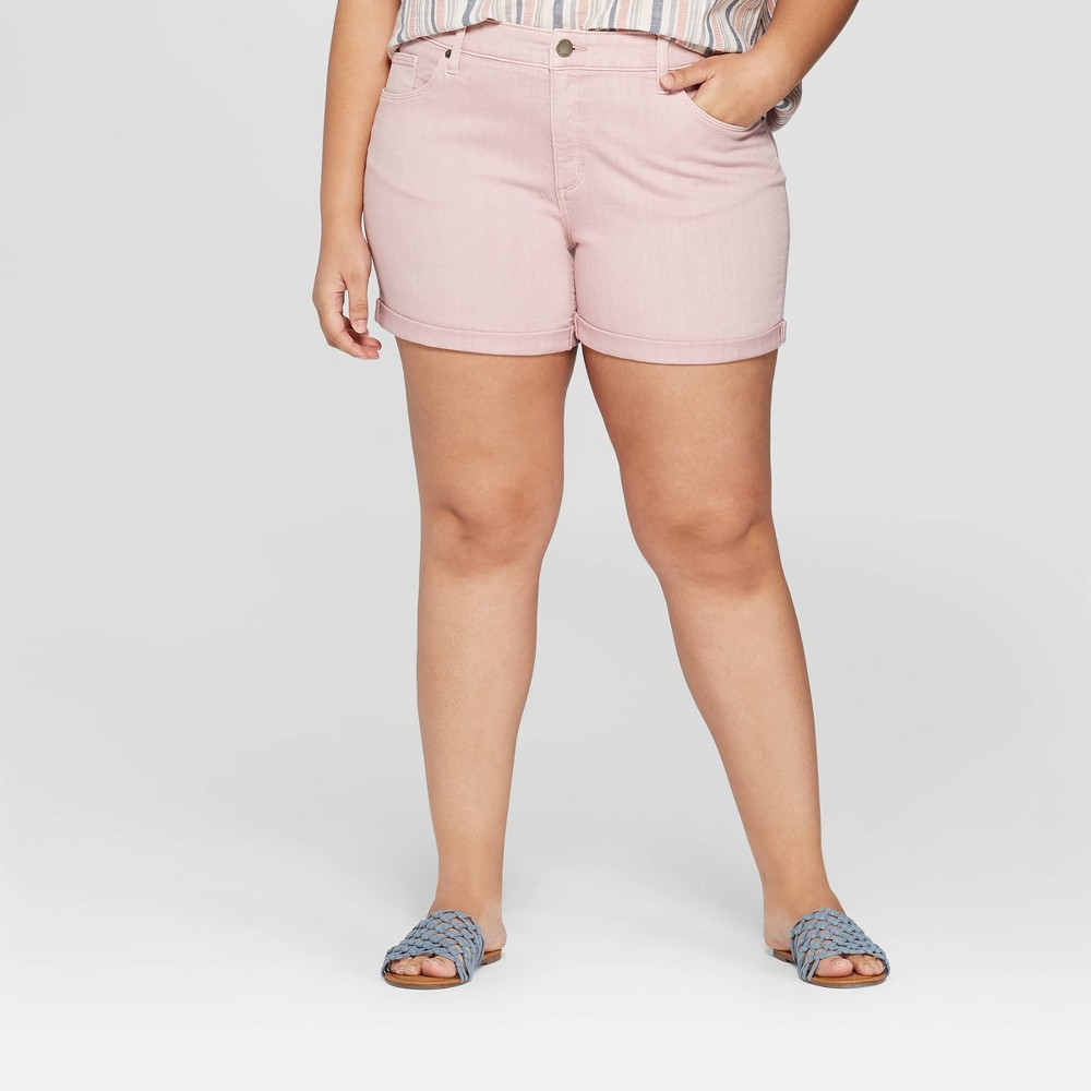 Women's Plus Size Mid-Rise Jeans - Universal Thread Pink 22W