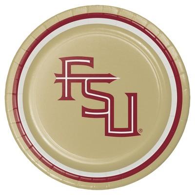 "8ct Florida State University 7"" Dessert Plates - NCAA"