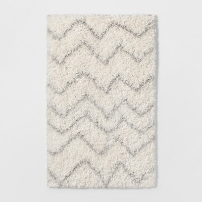 2'6 x4' Chevron Shag Rug Cream/Gray - Pillowfort™