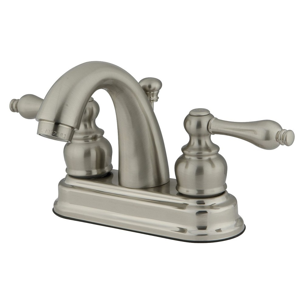 Restoration Classic Bathroom Faucet Satin Nickel - Kingston Brass, Satin Nicle