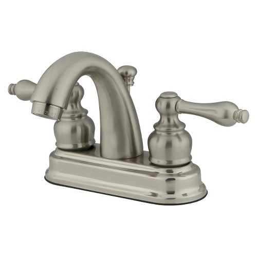 Restoration Classic Bathroom Faucet Satin Nickel - Kingston Brass, Satin Nicle