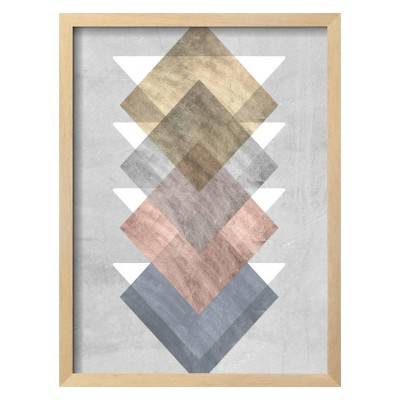 Diamond Allign I By Jennifer Goldberger Framed Wall Art Poster Print 16 x21  - Art.com