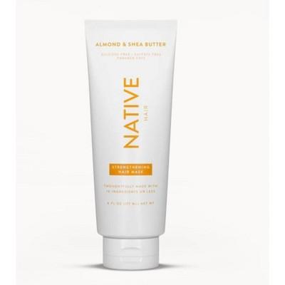 Native Almond & Shea Butter Strengthening Hair Mask - 6oz