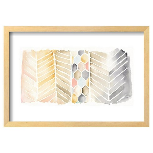 "Watercolor Chevron By Elyse Deneige Framed Poster 19""X13"" - Art.Com - image 1 of 4"
