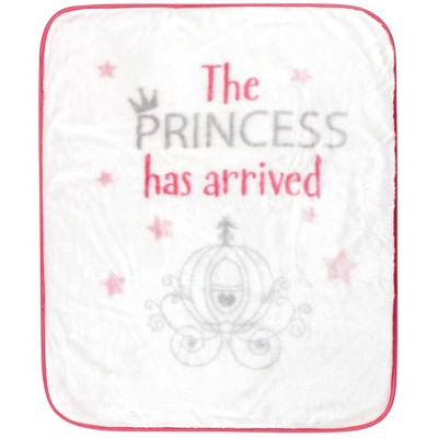 Hudson Baby Unisex Baby High Pile Plush Blanket - Princess Has Arrived One Size