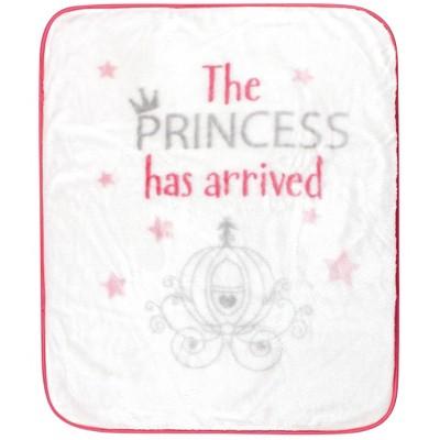 Hudson Baby Unisex Baby High Pile Plush Blanket - Princess Has Arrived One Size