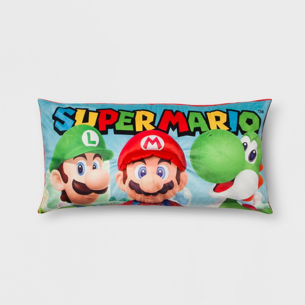 Image of Mario Body Pillow, Multi-Colored