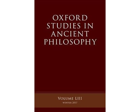 Oxford Studies Ancient Philosophy Winter 2017 -   Book 53 Reprint (Paperback) - image 1 of 1