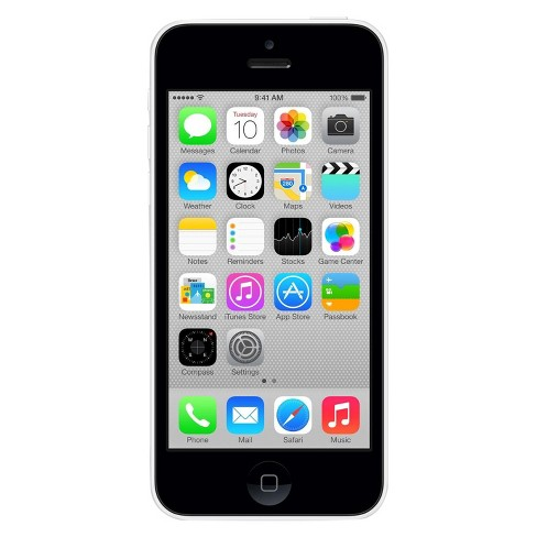 Apple iPhone 5c Certified Pre-Owned (GSM Unlocked) 8GB Smartphone - White - image 1 of 2