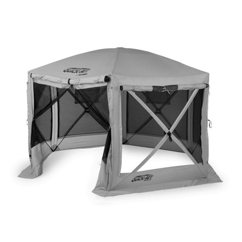Quick-Set 15221 Pavilion 12.5 Foot Portable Outdoor Gazebo Canopy Shelter Screen Tent for Picnics & Tailgating, Gray - image 1 of 4