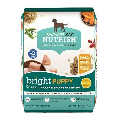 Rachael Ray Nutrish Real Chicken & Brown Rice Recipe Bright Puppy Super Premium Dry Dog Food