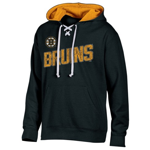 Boston Bruins Men s Hat Trick Laced Hoodie M   Target 5662f986a