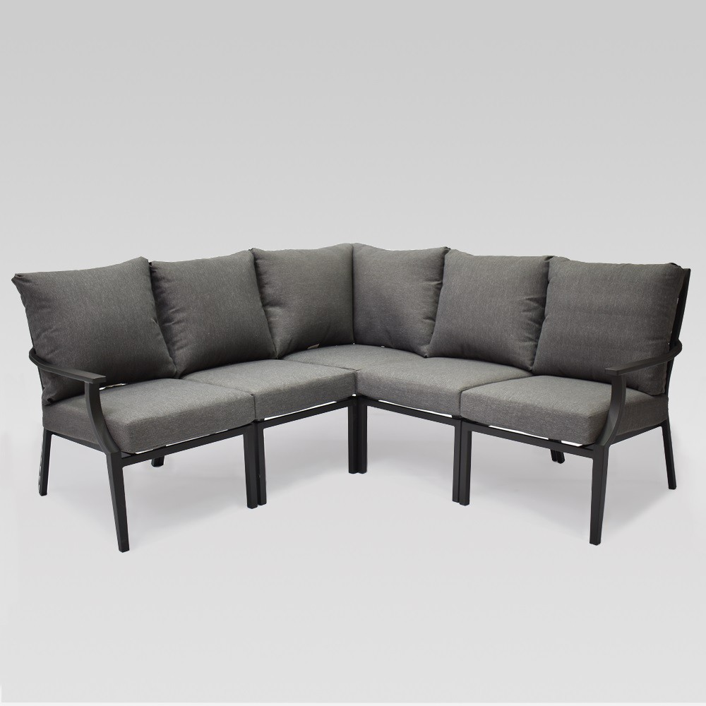 Fairmont 5 pc Patio Sectional Charcoal (Grey) - Threshold