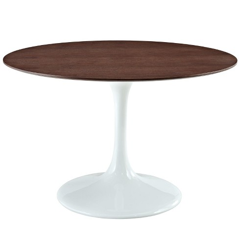 "Lippa 48"" Round Walnut Dining Table White - Modway - image 1 of 4"