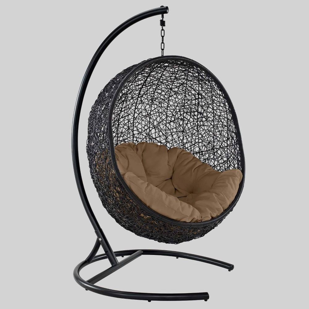 Encase Swing Outdoor Patio Lounge Chair Mocha Modway