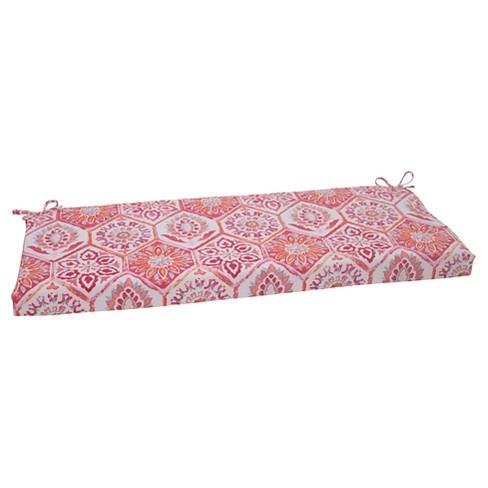 Amazing Outdoor Bench Cushion Pink Orange Medallion Machost Co Dining Chair Design Ideas Machostcouk
