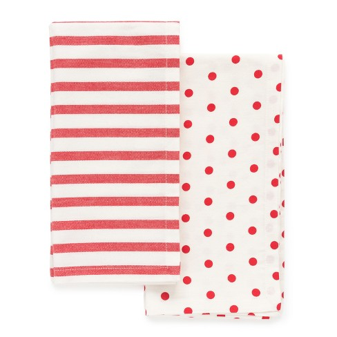 4ct Red Stripe and Polka Dot Napkins - sugar paper™ - image 1 of 1