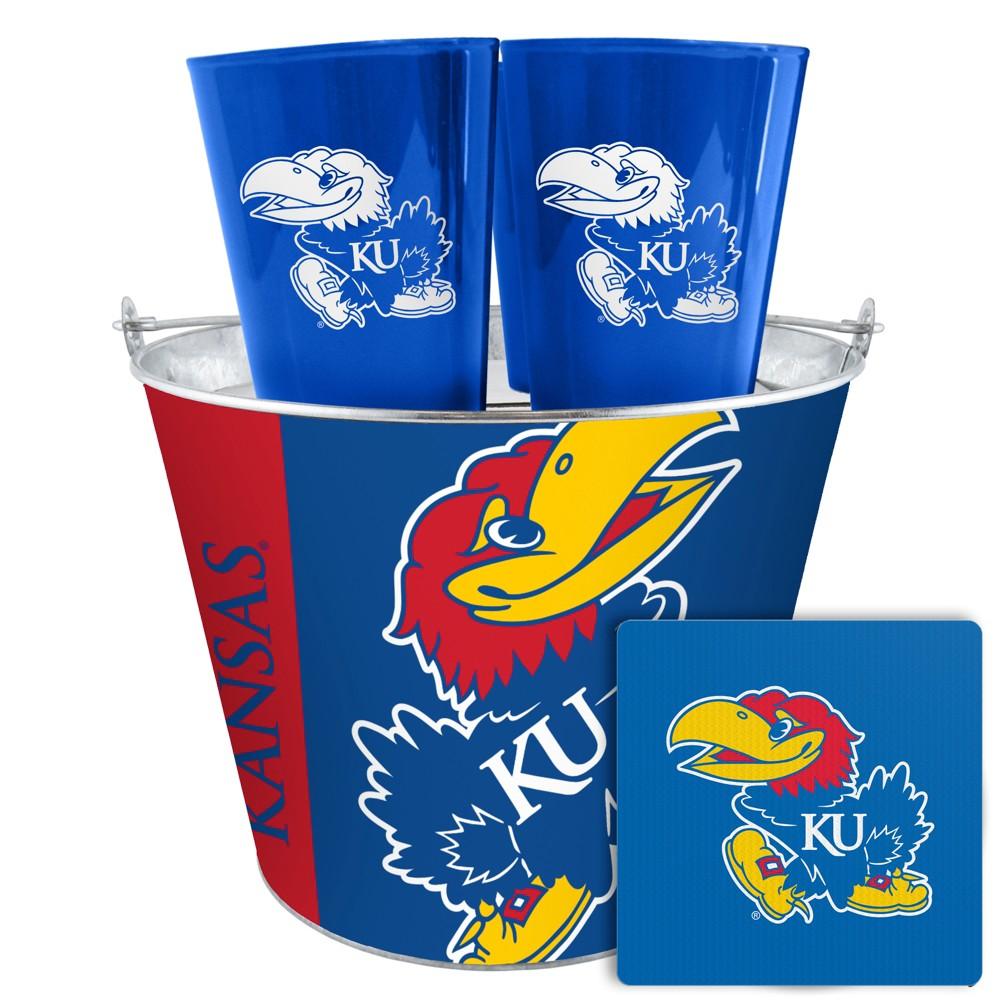 Kansas Jayhawks Boelter Tailgate Bucket Set