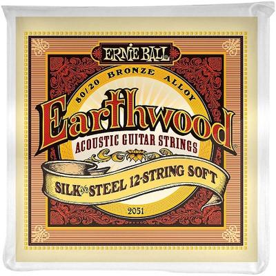 Ernie Ball 2051 Earthwood 80/20 Bronze Silk and Steel 12-String Soft Acoustic Guitar Strings