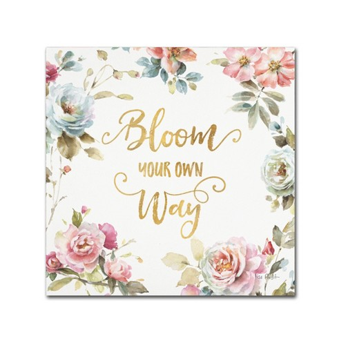 Bloom your own way Canvas Wall Art - Trademark Fine Art - image 1 of 3