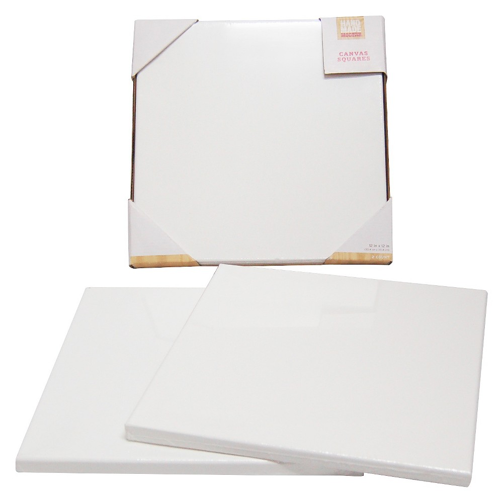 Hand Made Modern- 12x12 Canvas Squares - 2ct, Light Off-White