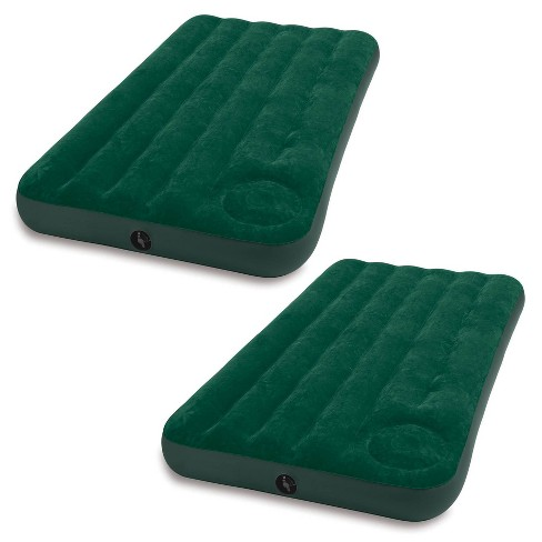 Intex Inflatable Downy Outdoor Camping Air Mattress w/ Foot Pump, Twin (2 Pack) - image 1 of 4