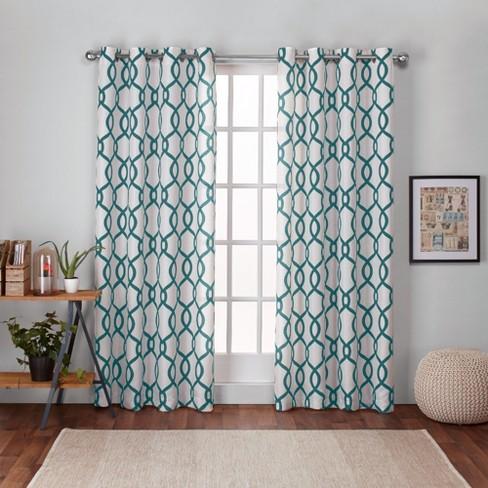 Kochi Linen Blend Grommet Top Window Curtain Panel Exclusive Home