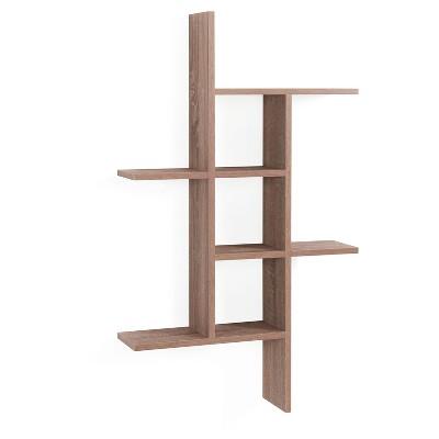 """40"""" x 24"""" Cantilever Wall Shelf Weathered Oak - Danya B."""